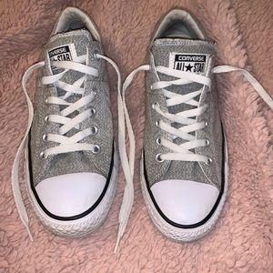 White Converse Knit Shoes